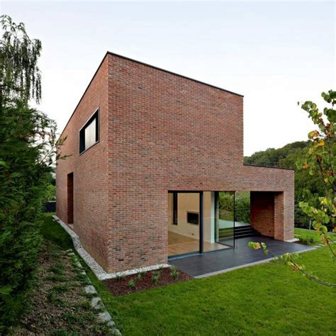 modern brick homes impressive brick monolithic home with minimalist interiors