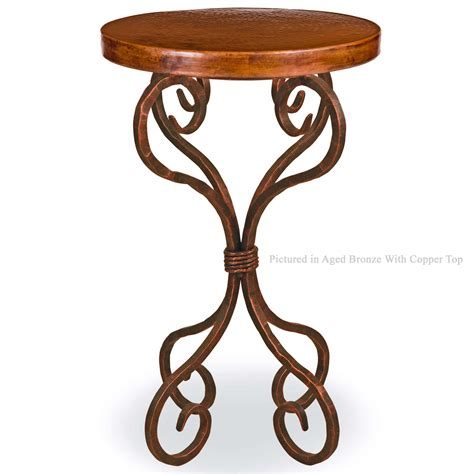 wrought iron accent tables pictured here is the alexander wrought iron accent table