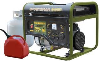 generator propane gas and gasoline powered 4000