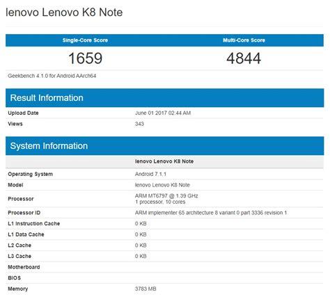 Lenovo Note K8 Nadchodzi Lenovo K8 Note Premiera W Przysz蛯ym Miesi艱cu