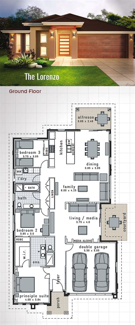 best double story house designs the 25 best single storey house plans ideas on pinterest
