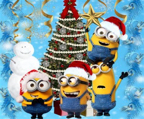 wallpaper christmas minion minions christmas tree movies entertainment background