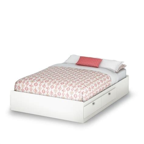 South Shore Affinato Full Mates Bed In Pure White 3260211 South Shore Mates Bed