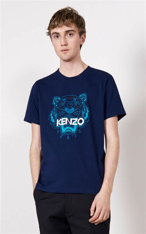 Tshirt Diesel All Colour Bdc lyst kenzo tiger t shirt in blue for