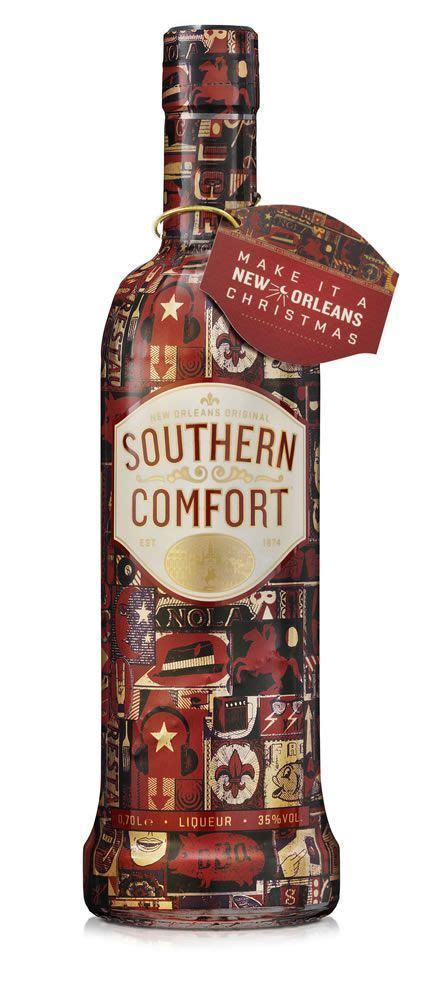 christmas liquor southern comfort limited edition wrapped bottle from wax communications packaging