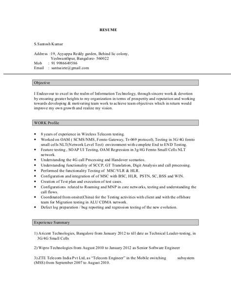 J N Reddy Resume by Resume Santosh