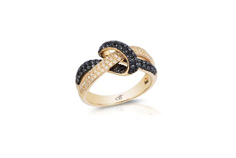 14k yellow gold ring white black