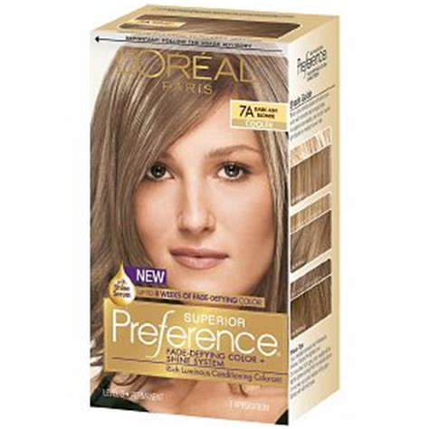 best drug store hair color to cover the grey l oreal preference 7a dark ash blonde haircolor wiki