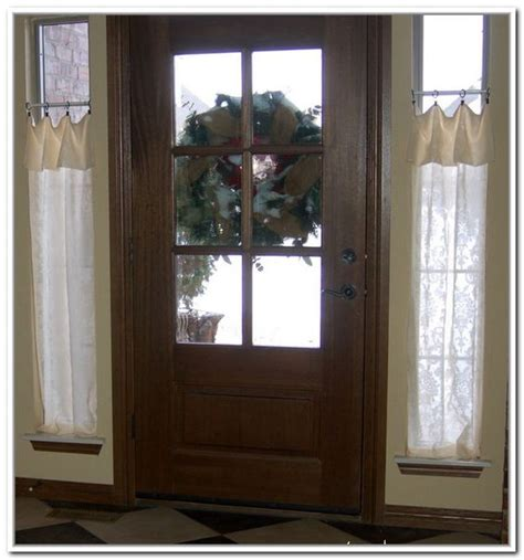 curtains for sidelights small curtain rods for sidelights windows pinterest