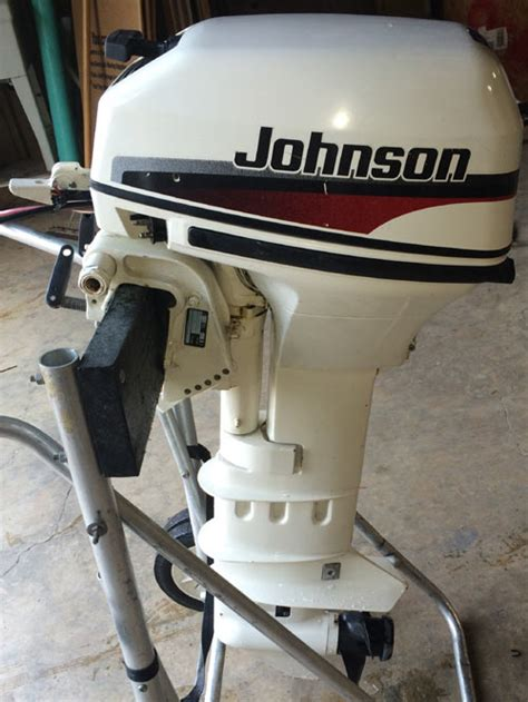 hp extra johnson long shaft outboard boat motor  sale