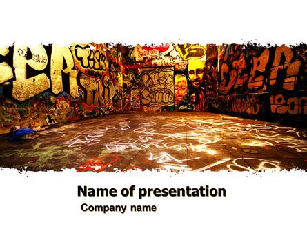 Graffiti Zone Presentation Template For Powerpoint And Keynote Ppt Star Graffiti Powerpoint Template