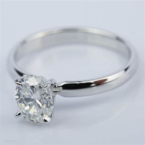 classic solitaire engagement ring with oval 1 23 ct