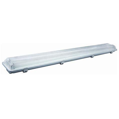 neon da soffitto plafoniera stagna con 2 tubi neon led attacco t8 per