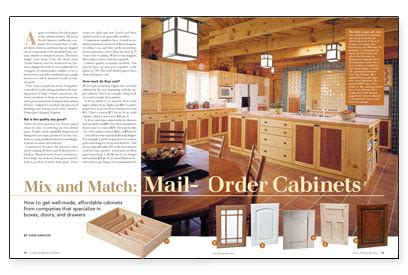 mail order kitchen cabinets mix and match mail order cabinets fine homebuilding