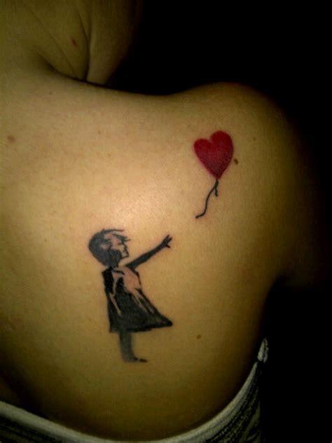 tattoo girl balloon 25 there is always hope banksy balloon girl tattoo
