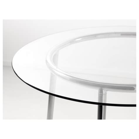 tavoli rotondi ikea salmi table glass chrome plated 105 cm ikea
