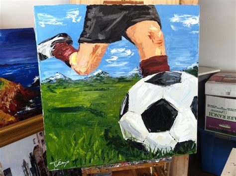 Palette Knife Paintings Hobble Creek Soccer Painting