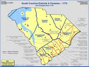 the royal colony of south carolina districts and