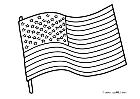 Flag Of Coloring Page free american flag printable coloring pages