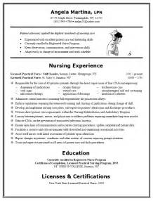 Exles Of Nurses Resumes by Lpn Rn Resume Exles Sle Resume