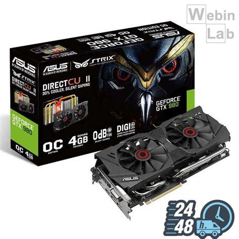Asus Geforce Gtx 980 Directcu Ii Oc 4gb Ddr5 Strix Gtx980 Dc2oc 4gd5 asus geforce strix gtx 980 directcu ii oc 4gb gddr5