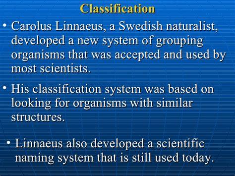 by carolus linnaeus classification classify organisms qand a