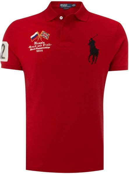 Polos Shirt Baikal Rusia polo ralph russia custom fitted polo shirt in for lyst