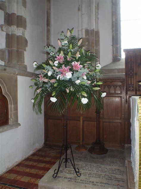 Wedding Ceremony Arrangements by A Beautiful Stargazer Pedestal Arrangement For Church