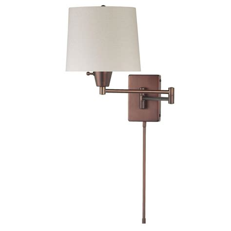 swing arm wall light dainolite shaded swing arm wall light by oj commerce
