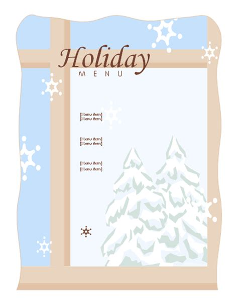 christmas menu templates microsoft word templates