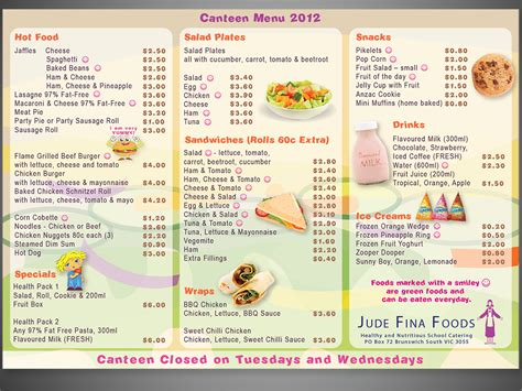 canteen menu template menu design design design 1084758 submitted to school