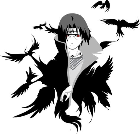 itachi uchiha tattoo itachi crows ideas itachi crows