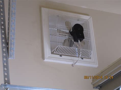 in wall exhaust fan for garage gft 16 through wall garage fan cool my garage