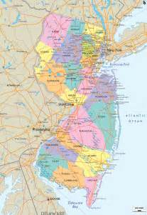 detailed political map of new jersey ezilon maps
