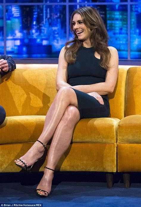 Talk About High Heel by Elizabeth Hurley Talk Show Gorgeous Legs In A Navy Curve