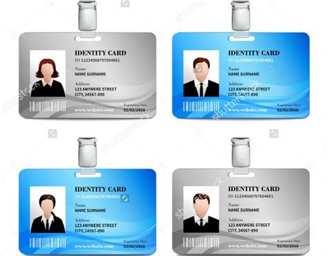identity card templates free id card template madinbelgrade