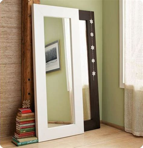 diy wood floor mirror for the home
