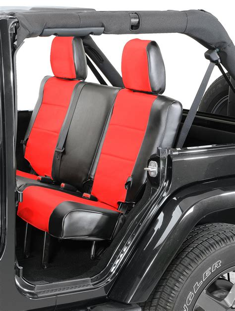 jeep seat upholstery coverking rear leatherette seat covers for 08 10 jeep