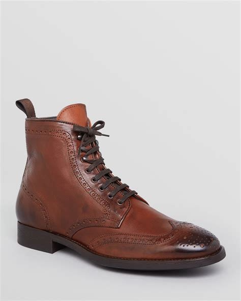 lace up boots for to boot brennan wingtip lace up boots in brown for