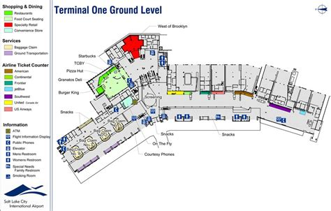 slc airport map salt lake city airport maplets