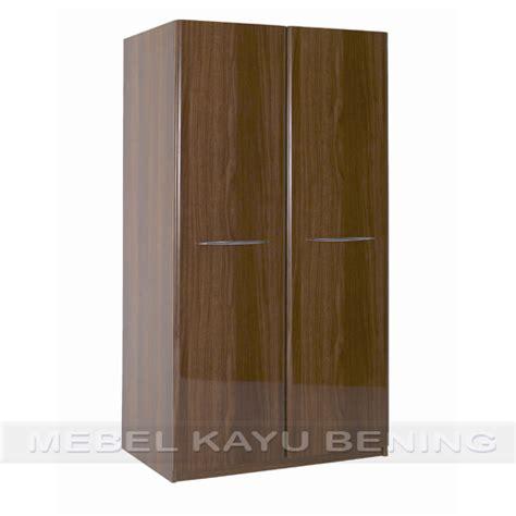 Lemari Minimalis 2 Pintu lemari pakaian 2 pintu kayu jati model minimalis glossy