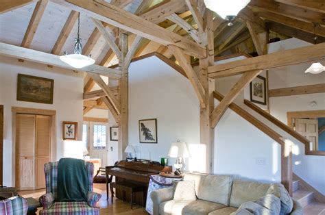 Timber Frame Interiors by Finished Timber Frames Gallery New Heritage Woodworking
