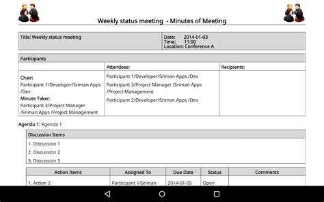 Play Store Like Template Meeting Minutes Trial Android Apps On Play