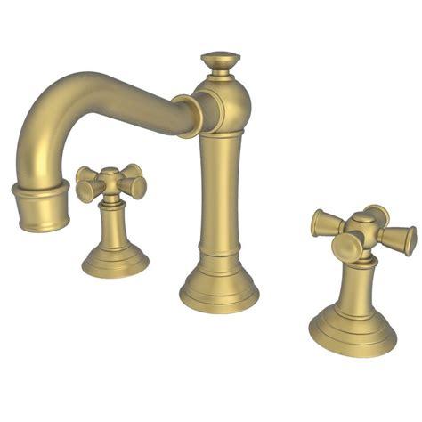 newport brass bathroom faucets newport brass 2460 06 antique brass double handle