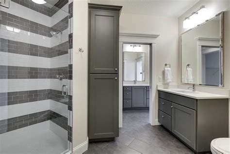 charcoal gray bathroom 31 brilliant grey striped bathroom tiles eyagci com