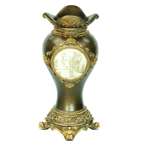 Handcrafted Vases - ore international handcrafted bronze decorative vase view all