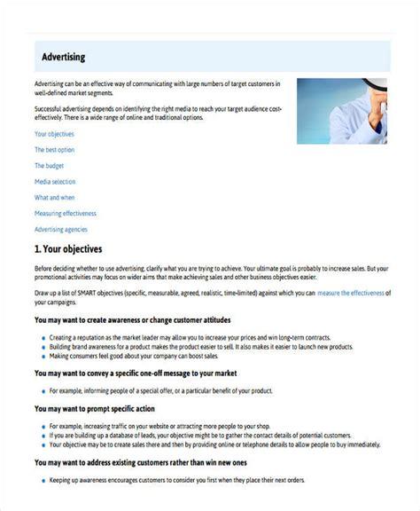 advertising plan 10 advertising plan exles sles