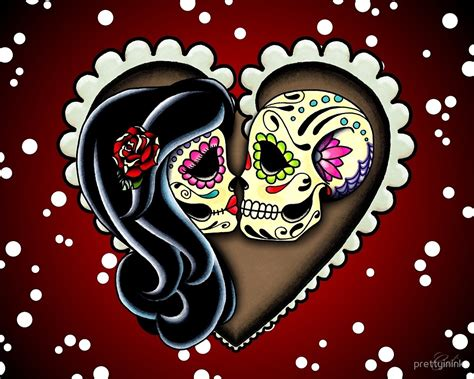 quot ashes day of the dead couple sugar skull lovers quot by