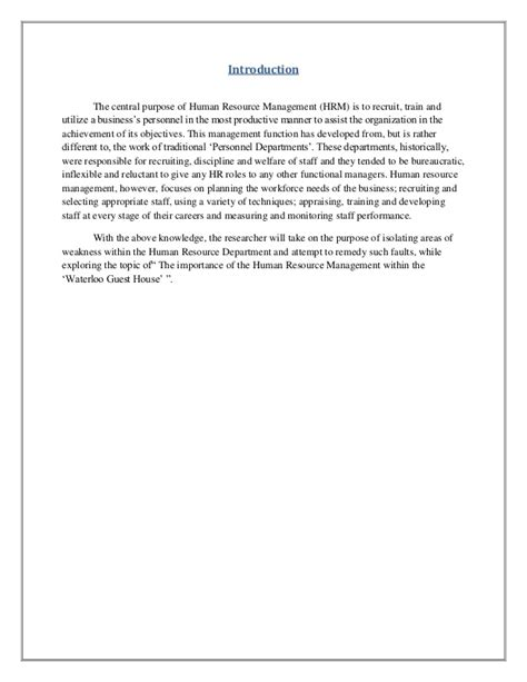 Cape Mob Ia Literature Review by Unit 1 Introduction To Human Resource Management Pdf