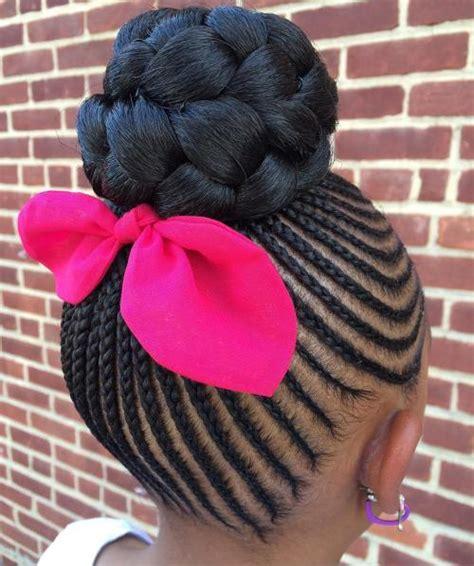 little kids hair braided into a bun black girls hairstyles and haircuts 40 cool ideas for